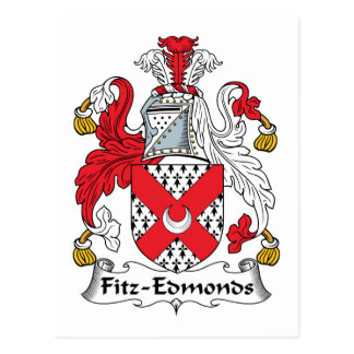 Fitz-Edmonds Family Crest Postcard