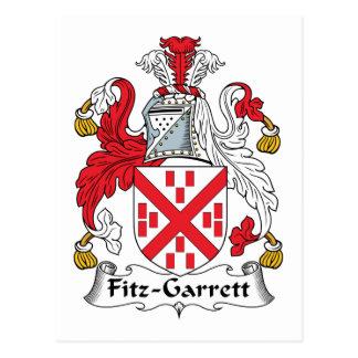 Fitz-Garrett Family Crest Postcard