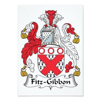Fitz-Gibbon Family Crest Card