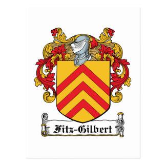 Fitz-Gilbert Family Crest Postcard