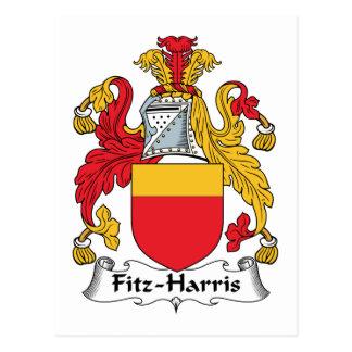 Fitz-Harris Family Crest Postcard