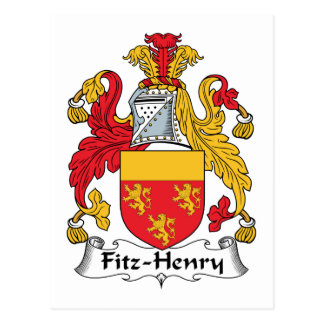 Fitz-Henry Family Crest Postcard