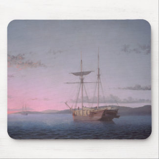 Fitz Henry Lane - Lumber Schooners at Evening Mouse Pad