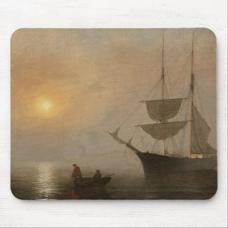 Fitz Henry Lane - Ship in Fog, Gloucester Harbor Mouse Pad