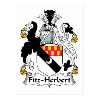 Fitz-Herbert Family Crest Postcard