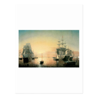 Fitz Hugh Lane Boston Harbor Postcard
