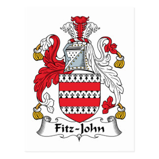 Fitz-John Family Crest Postcard