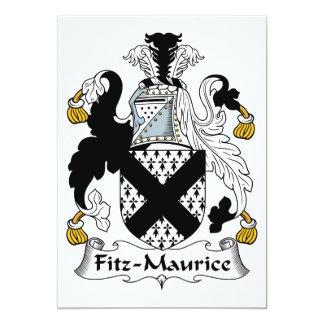 "Fitz-Maurice Family Crest 5"" X 7"" Invitation Card"