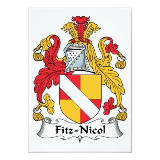 Fitz-Nicol Family Crest Card