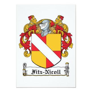 "Fitz-Nicoll Family Crest 5"" X 7"" Invitation Card"