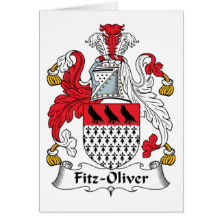 Fitz-Oliver Family Crest Card