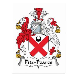 Fitz-Pearce Family Crest Postcard