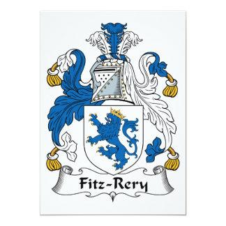 "Fitz-Rery Family Crest 5"" X 7"" Invitation Card"