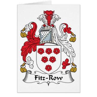 Fitz-Row Family Crest Card