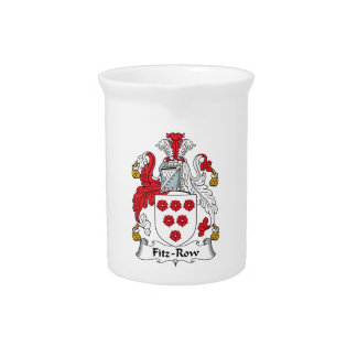 Fitz-Row Family Crest Drink Pitcher