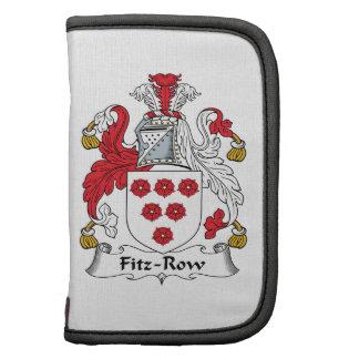 Fitz-Row Family Crest Folio Planner