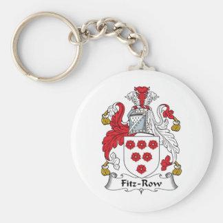 Fitz-Row Family Crest Keychains