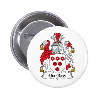 Fitz-Row Family Crest Pinback Buttons