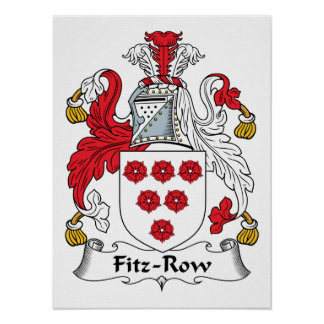 Fitz-Row Family Crest Poster