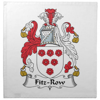 Fitz-Row Family Crest Printed Napkins