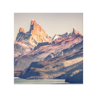 Fitz Roy and Poincenot Andes Mountains - Patagonia Canvas Print