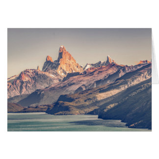 Fitz Roy and Poincenot Mountains Patagonia Card