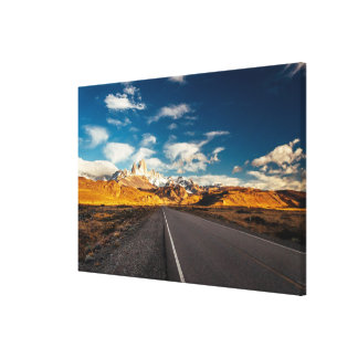 Fitz Roy In Morning Light Canvas Print