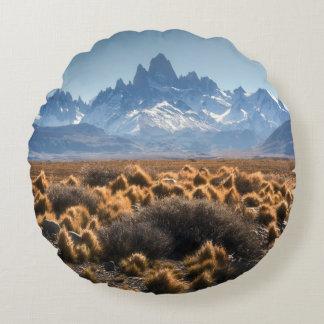 Fitz Roy, Patagonia, Argentina Round Pillow