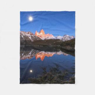Fitz Roy'S Reflection Fleece Blanket