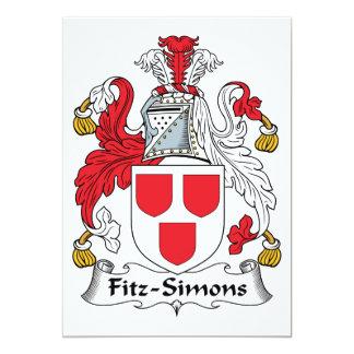 Fitz-Simons Family Crest 5x7 Paper Invitation Card