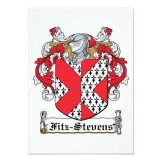 "Fitz-Stevens Family Crest 5"" X 7"" Invitation Card"