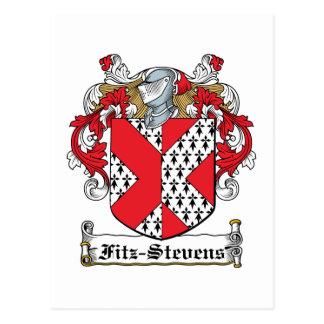Fitz-Stevens Family Crest Postcard