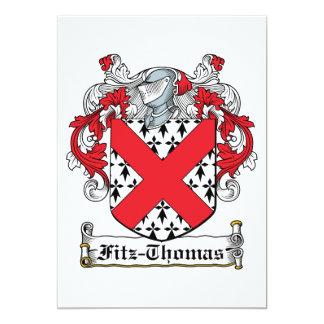 Fitz-Thomas Family Crest Card