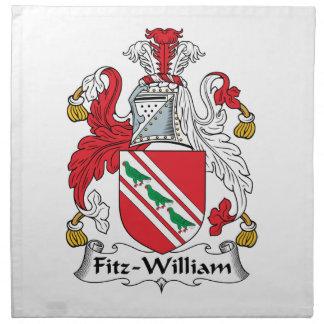 Fitz-William Family Crest Cloth Napkin