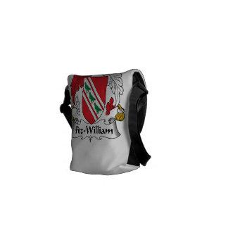 Fitz-William Family Crest Messenger Bags
