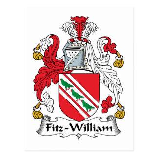 Fitz-William Family Crest Postcard
