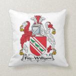 Fitz-William Family Crest Throw Pillows