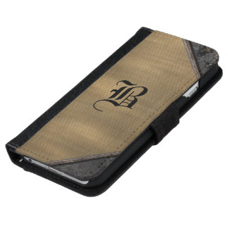 Fitzfinkle Old Book Style 6/6s monogram iPhone 6/6s Wallet Case