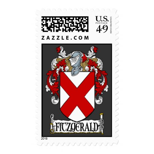 Fitzgerald Coat of Arms Postage Stamps