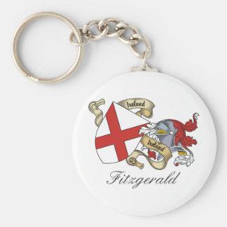 Fitzgerald Family Crest Basic Round Button Keychain