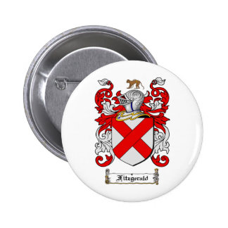 FITZGERALD FAMILY CREST -  FITZGERALD COAT OF ARMS BUTTON