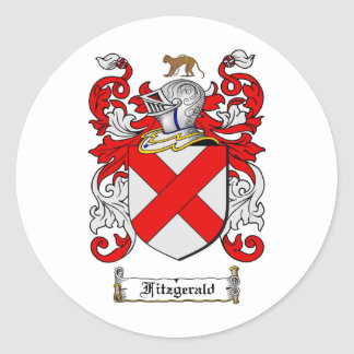 FITZGERALD FAMILY CREST -  FITZGERALD COAT OF ARMS CLASSIC ROUND STICKER