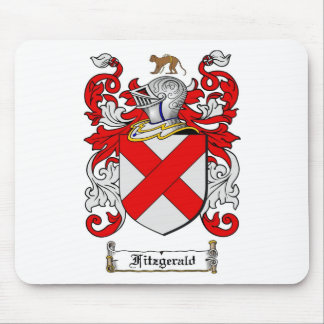 FITZGERALD FAMILY CREST -  FITZGERALD COAT OF ARMS MOUSE PAD