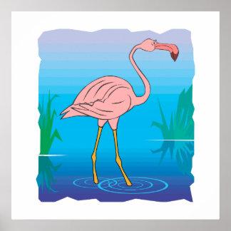 Fitzgerald Flamingo Print
