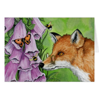 Fitzgerald Fox in the foxgloves Greeting Card