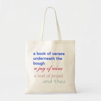 Fitzgerald Rubaiyat Tote Canvas Bag