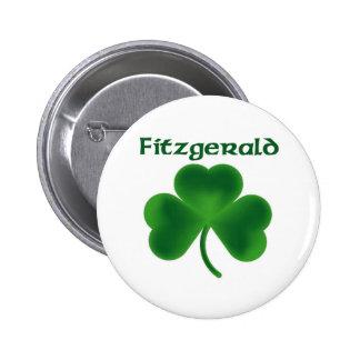 Fitzgerald Shamrock Pinback Button