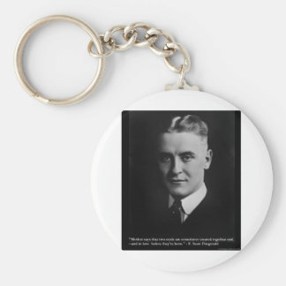 """Fitzgerald """"Two Souls"""" & Quote Tees & Gifts Keychain"""