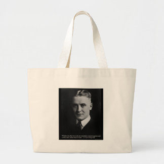 """Fitzgerald """"Two Souls"""" & Quote Tees & Gifts Large Tote Bag"""