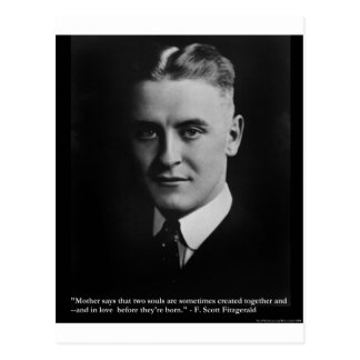 """Fitzgerald """"Two Souls"""" & Quote Tees & Gifts Postcard"""